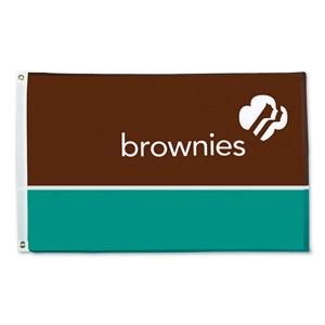 GS Brownie troop flag